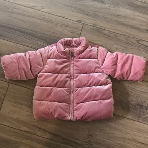 Baby Gap Infant Pink Velvet puffer jacket